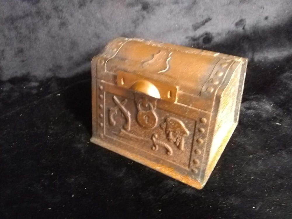 Vintage Metal Treasure Chest Bank