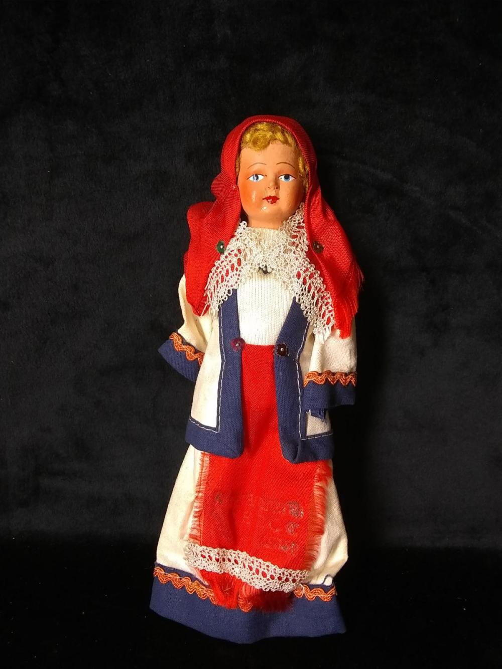 Early Israeli Cloth Body Doll - Girl