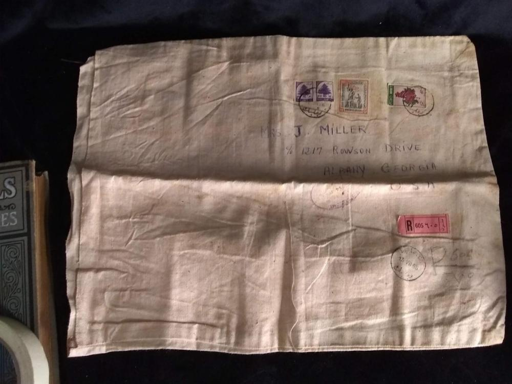 Cloth Shipping Bag - Israel w/ Stamps