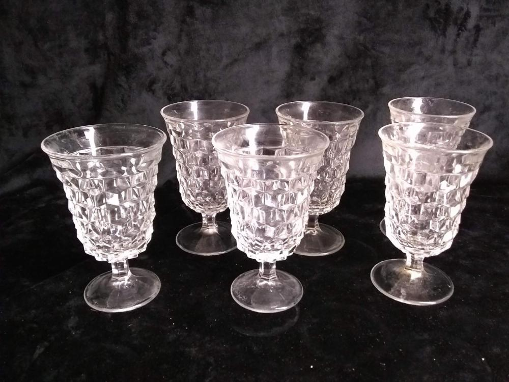 American Fostoria - Set 6 Stemmed Ice Tea Glasses