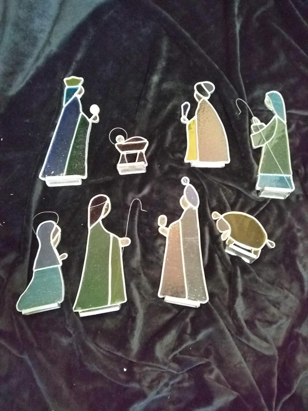 Stain Glass Figures - Nativity