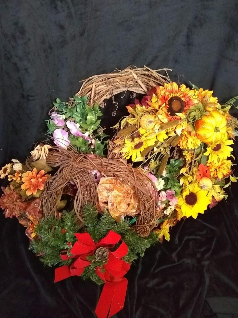 Assorted Grape Vine Fall Wreaths
