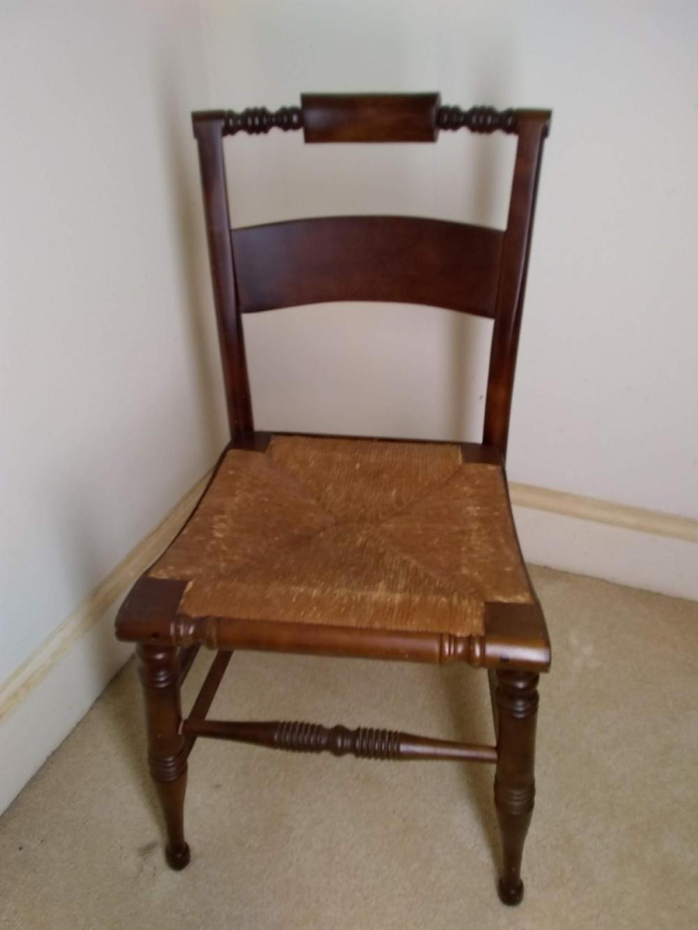 Vintage Rush Bottom Hitchcock Chair