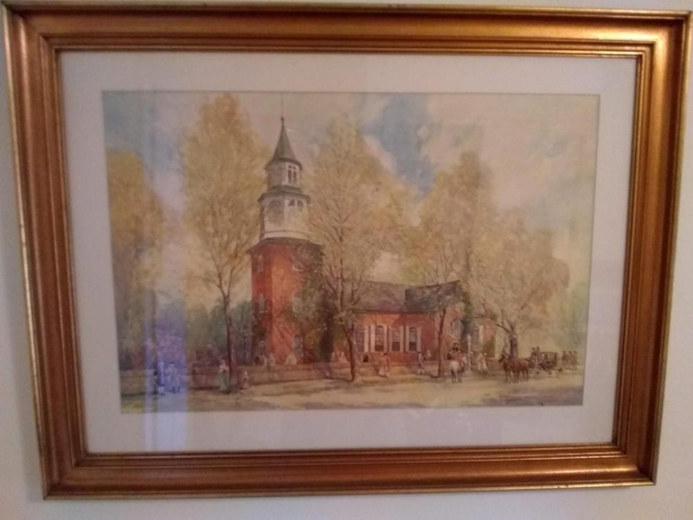 "Framed Print =""The Church"""