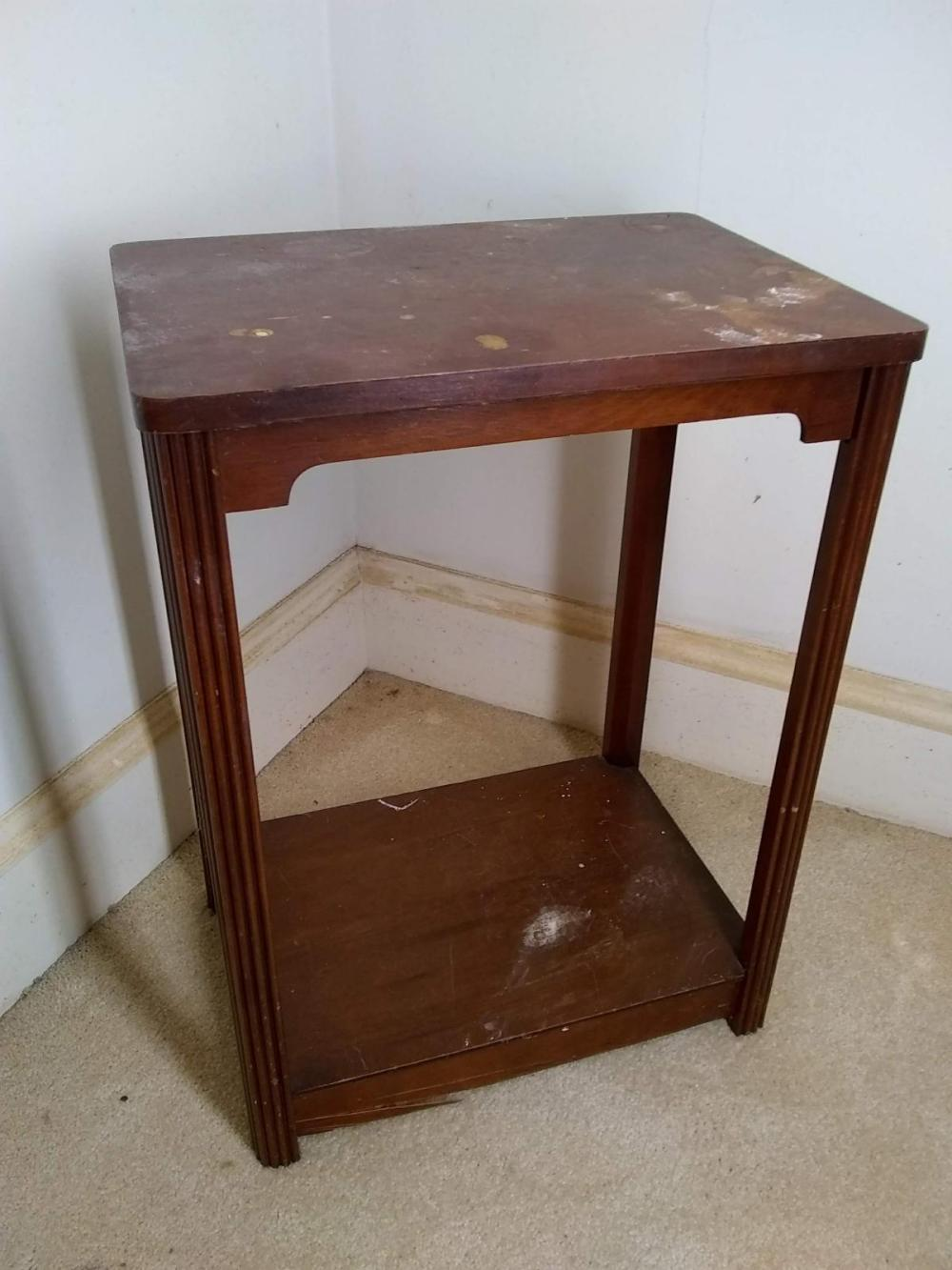 Mahogany Two Tier Accent Table