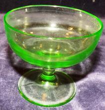 Green Depression Vaseline Sherbet