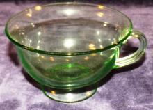 Green Depression Vaseline Punch Cup