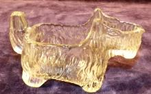 Antique Crystal Scottie Dog Candy Container