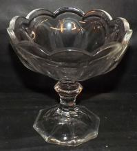 Crystal Heisey Compote