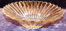 Crystal Heisey Ribbed Bowl