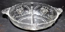 Crystal Heisey Oval Divided Dish