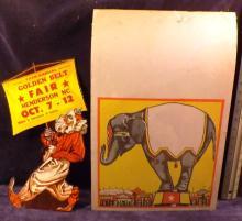 74th Annual Golden Fair Circus Advertisements