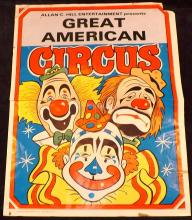 Allen Hill Great American Circus Poster