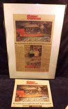 Framed and Loose Newspaper Of The Clyde And Lib Hight Circus