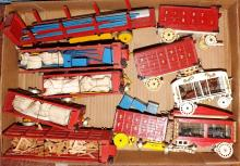 Box Lot-Custom Balsa Wood Circus Train Cars