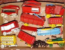 Box Lot-Custom Balsa Wood Tray Circus Train Cars