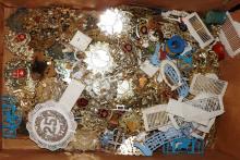 Box Lot-Plastic Emblems & Badges