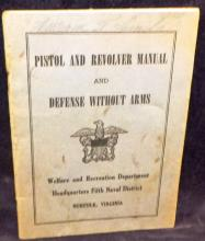 Pistol And Revolver And Defense Without Arms Pamphlet