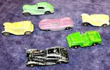 Collection 5 Metal Tootsie Cars