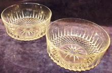 Pair Clear Glass Bowls