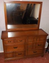 Oak Dresser With Mirror Two Over Two Over Two