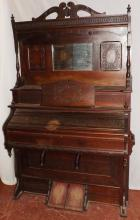 Victorian Oak Harland Co Pump Organ -Working