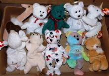 Box Lot -10 Ty Beanie Babies