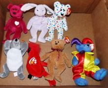 Box Lot - 7 Ty Beanie Babies