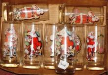 Box Lot- Vintage Coca Cola Santa Glasses