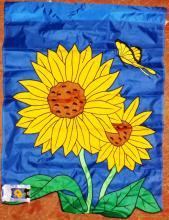Outdoor Nylon Garden Flag - Sun Flowers