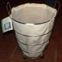 Chrome Rolling Laundry Basket