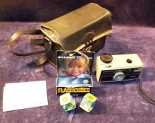 Kodak Hawkeye Instamatic Camera With Case