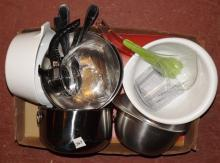 Box Lot- Stainless Steel Bowls & Kitchenware