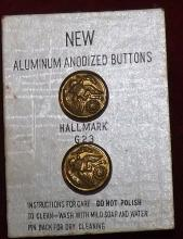 Collection 2 Military Buttons m- New w/ card