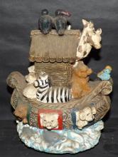 Resin Noah's Ark Music Box