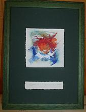 Pair of Framed Water Color on Cut Paper 1996, 2001
