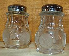 Fostoria Coin Dot Crystal Salt and Pepper Shaker