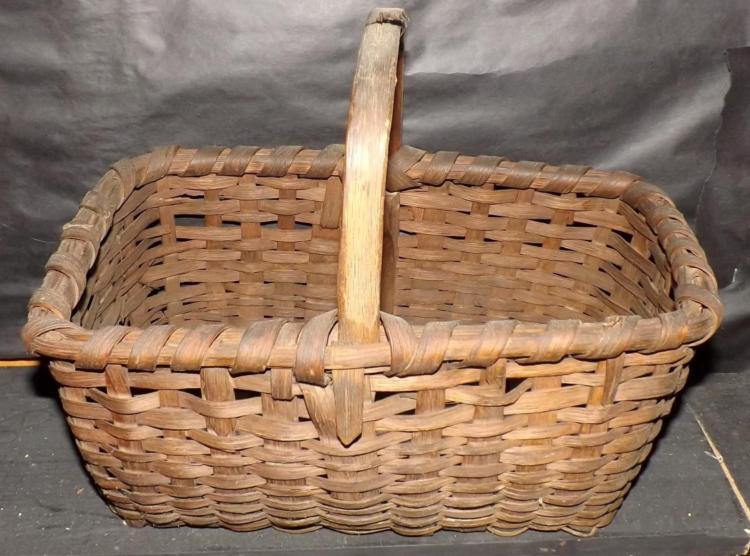 Primitive Split Oak Handle Basket