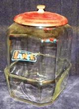 Original Country Store Lance Cracker Jar with Metal Lid