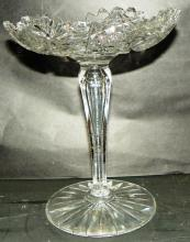 Cut Glass Crystal Compote