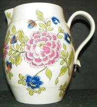 Holland C&W Delft Pitcher with Flower Motif