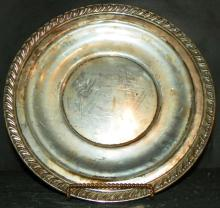 Sterling Silver Charger with Chased Edge
