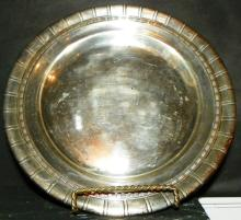 Sterling Silver Charger with Reeded Edge