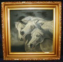 Oil on Canvas = 1910-