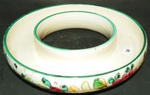 Italian Pottery Circular Flower Frog Centerpiece