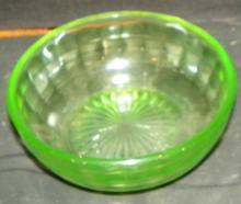 Green Depression Vaseline Finger Bowl