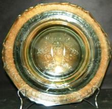 Green Depression Vaseline Plate
