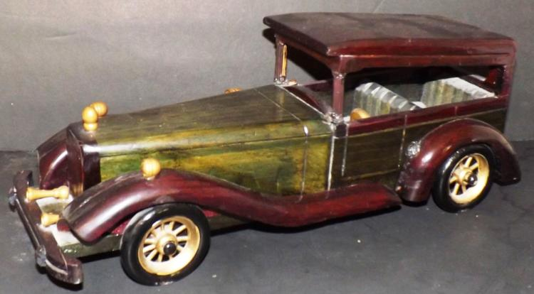 Painted Pine Decorator Model Car