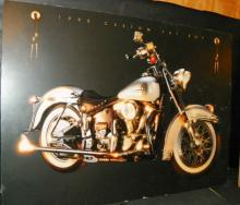1990 Custom Fat Boy Motorcycle Poster