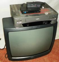 Admiral TV w/ Bell Howell VHS & Etc